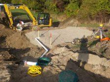 Digging septic system