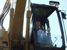 Mac Taylor using excavator