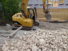 Digging gravel