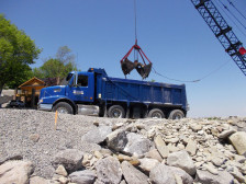 Loading rock into truck