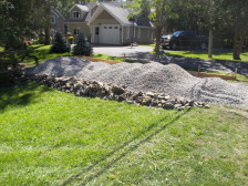 gravel on septic system