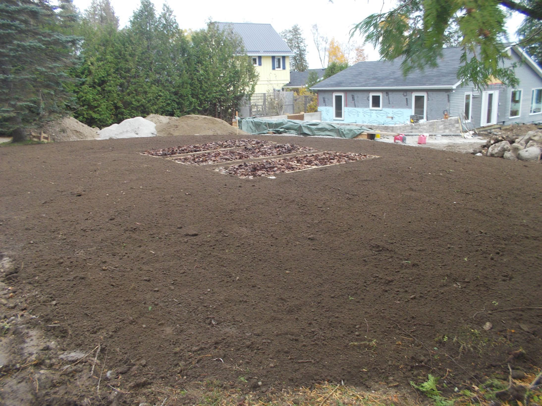 Septic system lawn