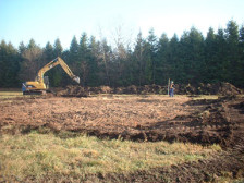 Digging septic system