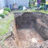 Hole for septic system