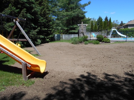 Finished lawn for septic bed